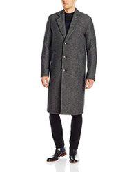 BOSS - Boss Orange Bear Double Face Twill Wool Blend Long Top Coat - Lyst