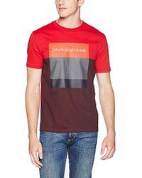 c5aab58901a Calvin Klein - Ck Fashion Logo Short Sleeve Crew Neck T-shirt - Lyst