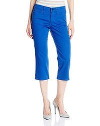 NYDJ - Ariel Crop Jeans In Bull Denim - Lyst