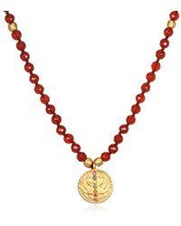Satya Jewelry - Carnelian Gold Chakra Tassel Mala Necklace 30-inch, Orange, One Size - Lyst