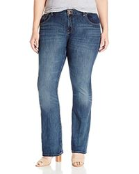 5506e8fd1b6 Lucky Brand - Plus Size High Rise Emma Bootcut Jean In Great Falls - Lyst