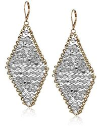 Kenneth Cole - Woven Crystal Faceted Bead Kite Drop Earrings, One Size - Lyst
