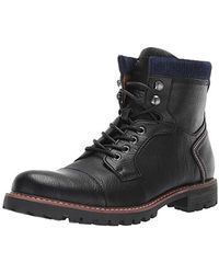 2b8246c27615c2 Lyst - Tommy Hilfiger Elevated Outdoor Leather Hiking Boots in Black ...