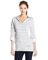 Marc New York - Stripe Roll Sleeve Fleece Tunic - Lyst