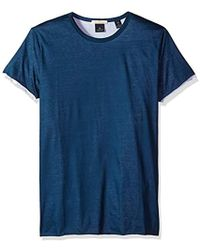 Scotch & Soda - Tee In Lightweight Double Layer Jersey Quality - Lyst