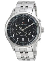 Tommy Hilfiger - Sport' Quartz Stainless Steel Casual Watch, Color: Black Dial (model: 1791389) - Lyst