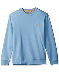 Izod - Advantage Performance Long Sleeve Solid Fleece Soft Crewneck Pullover - Lyst