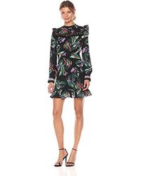 b10834ed7d27da Lyst - Ted Baker Simarra Florence Midi Long Sleeve Dress in Black