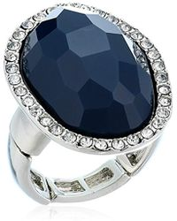 T Tahari - Mystic Sands Framed Large Stone Cocktail Ring, Silver, Expandable - Lyst