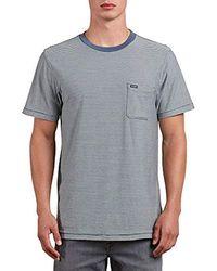 Volcom - Preston Short Sleeve Knit Crew Shirt - Lyst