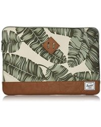 Herschel Supply Co. - Unisex-adult's Heritage Sleeve 15, Silver Birch Palm/tan Synthetic Leather, One Size - Lyst