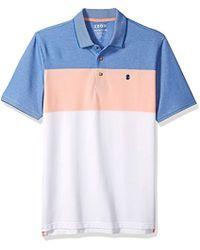 Izod - Size Short Sleeve Advantage Stripe Polo (big Tall Slim), - Lyst