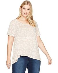 Lucky Brand - Plus Size Floral Print Top - Lyst