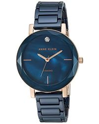 Anne Klein - Ak/3364nvrg Diamond-accented Rose Gold-tone - Lyst