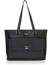 Kenneth Cole Reaction - Runway Call Pebbled Faux Leather Single Compartment Front Flap Laptop Tote Laptop Tote - Lyst