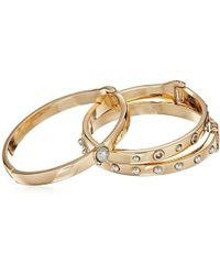 Guess - S Three-piece Hinge Bangle Set With Studs - Lyst