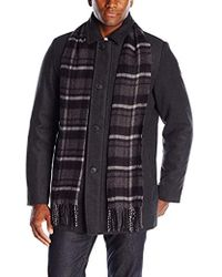 Dockers - Weston Wool Blend Car Coat With Scarf - Lyst