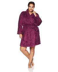 Arabella - Plus Size Shaggy Plush Short Robe - Lyst