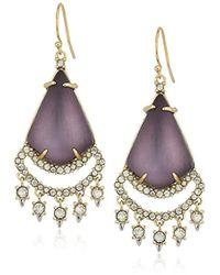 Alexis Bittar - Crystal Lace Chandelier Deep Lilac Drop Earrings - Lyst