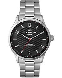 Ben Sherman - Quartz Silver-tone And Alloy Casual Watch, Color:silver-toned (model: Wb025sm) - Lyst