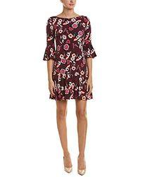 Eliza J - Floral Rouched Matte Jersey Floral Print Sheath Dress - Lyst