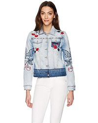 Desigual - Eileen Embroidered Detail Denim Jacket - Lyst