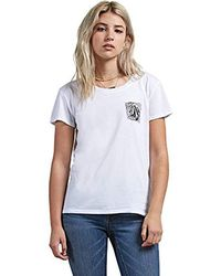 Volcom - Easy Babe Rad 2 Fitted Short Sleeve Tee - Lyst