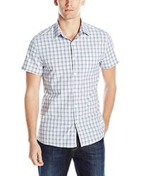 Kenneth Cole Reaction - Short Sleeve Ombre Shirt - Lyst