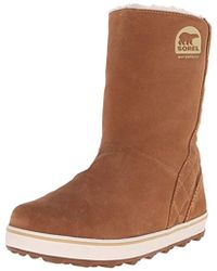95609e3d48b0 Lyst - Timberland Women s Glacy Lace-up Block-heel Boots in Brown