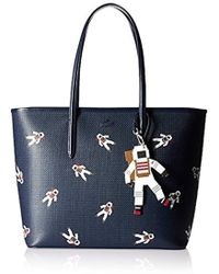 Lacoste - Chantaco Fantasy Zip Shopping Bag With Charm - Lyst
