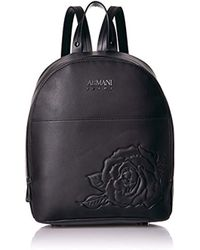 Armani Jeans - Embossed Floral Backpack - Lyst