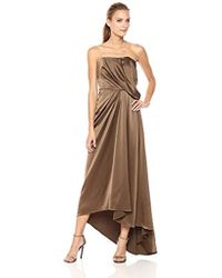 a05170f097d6 Halston Cutout-back Halter Gown in White - Lyst