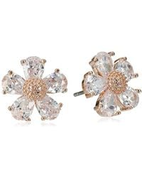 Betsey Johnson - Crystal Flower Stud Earrings - Lyst