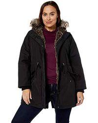 Levi's - Plus Size Arctic Cloth Faux Fur Trimmed Parka Jacket - Lyst