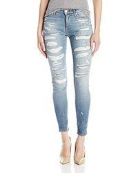 Hudson Jeans - Nico Midrise Super Skinny Light Stonewash Jeans - Lyst