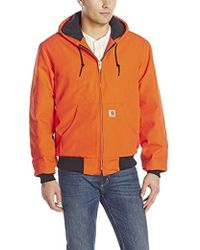 Carhartt - Quilted Flannel Lined Duck Active Jacket - Lyst