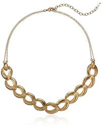 Napier - Gold Tone Frontal Necklace - Lyst