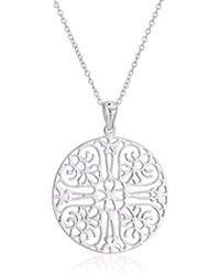 Argento Vivo - Sterling Silver Medium Filigree Circle Pendant Necklace - Lyst