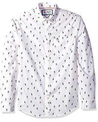 Original Penguin - Long Sleeve Printed Button Down Shirt - Lyst