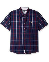 U.S. POLO ASSN. - Classic Fit Short Sleeve Sport Shirt - Lyst