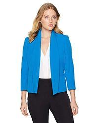 Kasper - Petite Solid Stretch Open Jacket With Pockets - Lyst