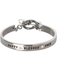 BCBGeneration - Bcbg Generation Happy Blessed Free Cuff Bracelet - Lyst