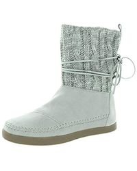 TOMS - Suede Jacquard Nepal Boots - Lyst