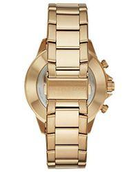Michael Kors - Goldtone Gage Hybrid Watch - Lyst