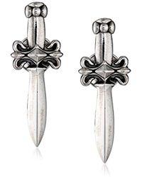 King Baby Studio - Dagger Post Earrings - Lyst