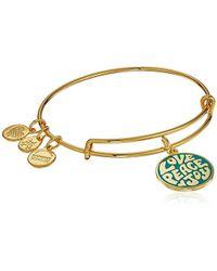ALEX AND ANI - S Words Are Powerful, Love Peace Joy Ewb Bangle Bracelet, Shiny Gold, Expandable - Lyst
