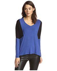 James & Erin - Color Block Top With Contrast Shoulders - Lyst