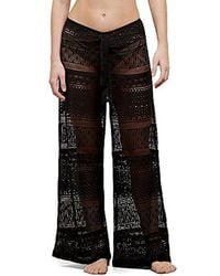 Kenneth Cole - Tough Luxe Crochet Beach Pant Cover Up - Lyst