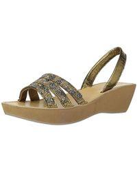 Kenneth Cole Reaction - Fine Wedge Slingback Jeweled Platform Sandal - Lyst