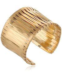 Kenneth Cole - Gold-tone Woven Cuff Bracelet - Lyst
